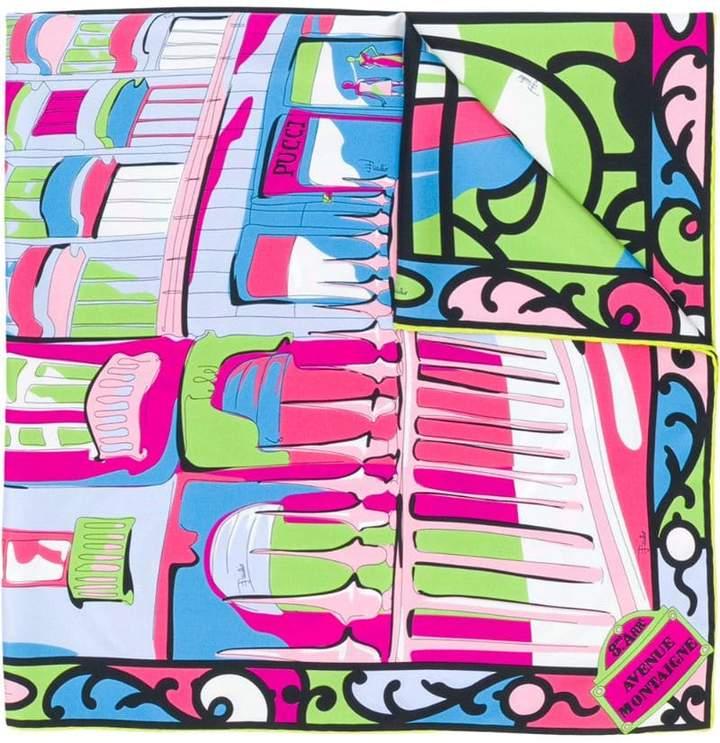 Emilio Pucci Paris-print scarf