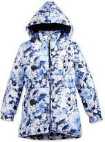 GUESS Hooded Padded Floral-Print Coat, Big Girls (7-16)