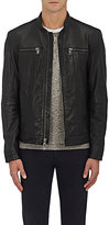 John Varvatos Men's Leather Zip-Front Jacket