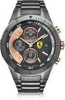 Ferrari RedRev Evo Gun Metal Stainless Steel Men's Chrono Watch
