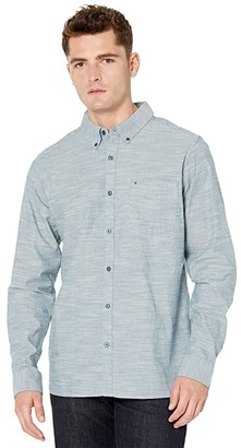 Hurley One Only 2.0 Long Sleeve Woven (Ash Blue) Men's Clothing