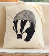 Bird Badger Print Tote Bag