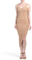 Juniors Faux Suede Asymmetrical Dress