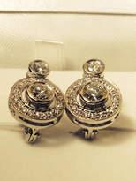 Etsy 14k gold european lever back diamond earrings FABULOUS !!