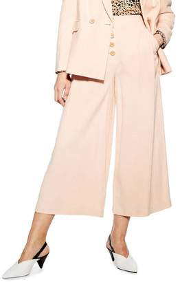 Topshop Coco Cropped Wide Leg Trousers