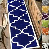 nuLoom Handmade Luna Moroccan Trellis Grey Rug (2'8 x 10' Runner)