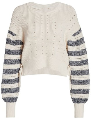 Jonathan Simkhai Savi Tie-Detail Crewneck Sweater