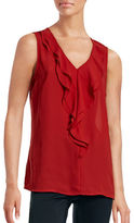 Dex Ruffle Sleeveless Blouse