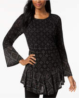 Style&Co. Style & Co Flounce-Hem Tunic, Created for Macy's