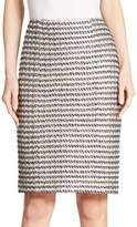 St. John Tweed Pencil Skirt