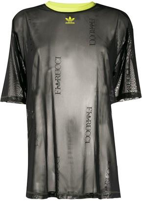 Fiorucci x adidas logo-print sheer T-shirt