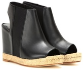Balenciaga Rope leather peep-toe wedges