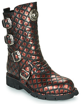 New Rock women's Mid Boots in Brown