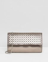 Lotus Cellini Perforated Detail Leather Clutch Bag