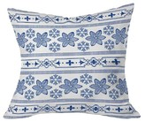 "DENY Designs Deep Blue Snowdrift Throw Pillow Blue (20"" x 20"