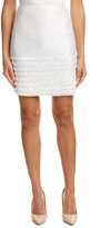 St. John Silk-Lined Mini Skirt