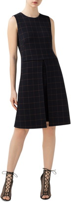 Akris Check Double Face Wool Blend Dress