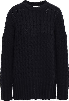 Victoria Victoria Beckham Victoria, Victoria Beckham Cable-knit Wool-blend Sweater