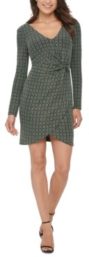 GUESS Metallic Dew-Drop Knit Dress
