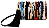 Brian Atwood Dakota Fur & Suede Crossbody Pouch