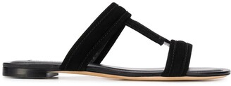 Tod's double T flat leather sandals