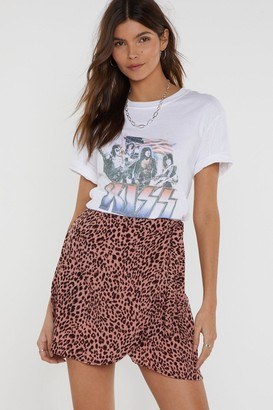 Nasty Gal Womens Tail It To Someone Who Cares Leopard Mini Skirt - Pink - 8, Pink
