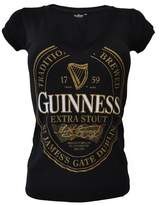 Guinness Ladies Label In Gold T-Shirt