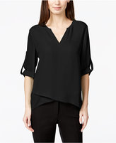 Alfani Roll-Tab High-Low Top, Only at Macy's