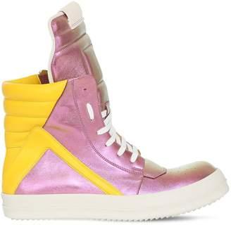 Rick Owens Geo Basket Leather Sneakers