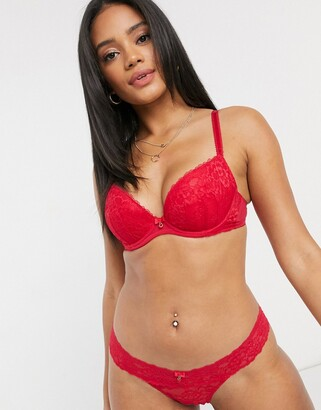 Ann Summers sexy lace thong in red