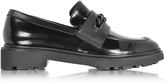 Robert Clergerie Jate Black Leather Loafer