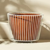 CB2 Wire And Terracotta Large White Planter