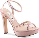 Nina Myrna Platform Ankle-Strap Evening Sandals