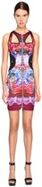 Versace Sleeveless Cut Out Printed Dress Women's Dress