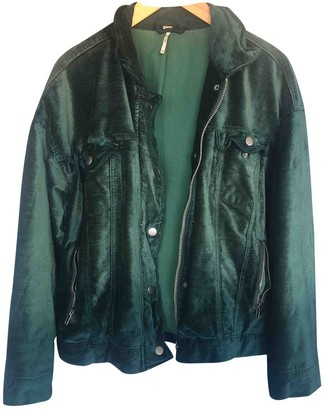 Free People Green Cotton Jacket for Women