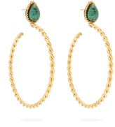 SYLVIA TOLEDANO Malachite and gold-plated earrings