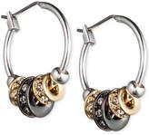 Nine West Tri-Tone Slider Hoop Earrings