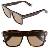 Givenchy Women's 55Mm Square Sunglasses - Dark Havana