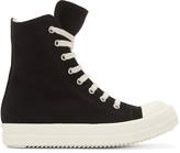 Rick Owens Black High-Top Sneakers