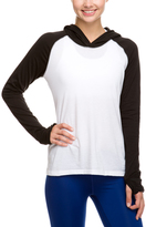 Soffe White & Black No Sweat Color Block Hooded Tee