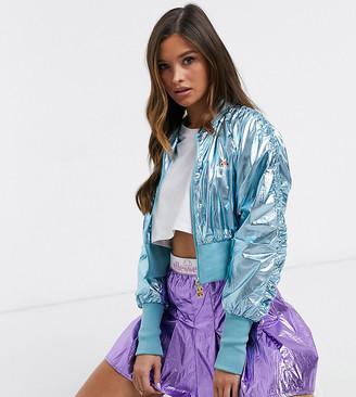 Ellesse zip through jacket in blue - exclusive to ASOS