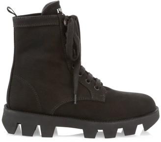 Prada Canvas Hiker Boots
