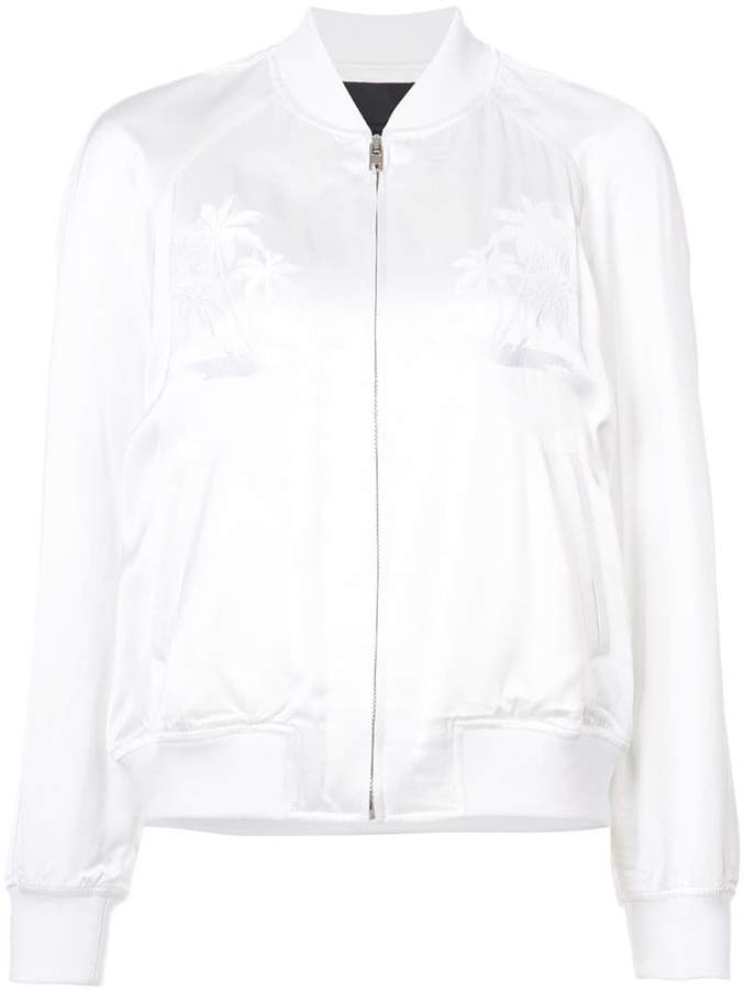 Alexander Wang palm tree embroidered bomber jacket