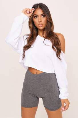 I SAW IT FIRST Charcoal Crop Cycling Shorts