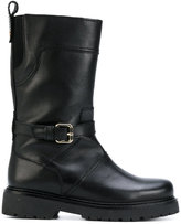 Twin-Set biker boots - women - Calf Leather/Leather/rubber - 36