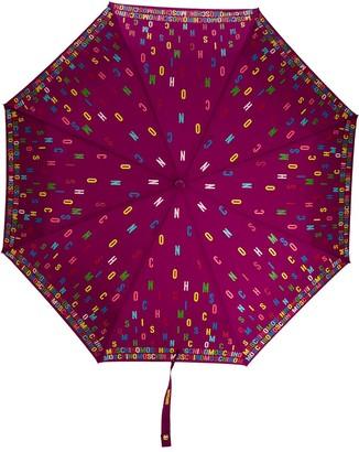 Moschino Scattered Logo-Print Umbrella