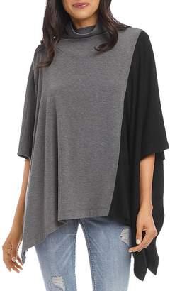 Karen Kane Color-Block Poncho Sweater