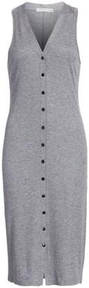 Rag & Bone Mac Button-Front Midi Tank Dress