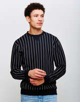 Edwin Classic Crew Sweatshirt Black Striped