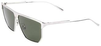 Bottega Veneta 57MM Flat-Top Geometric Sunglasses